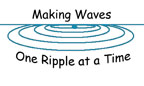 "Logo: ""Making Waves One Ripple at a Time"""